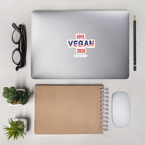 Vote Vegan 2020 Bubble-free stickers