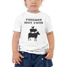 Load image into Gallery viewer, Friends Not Food | Toddler Short Sleeve Tee