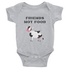 Load image into Gallery viewer, Friends Not Food | Cow | Infant Bodysuit