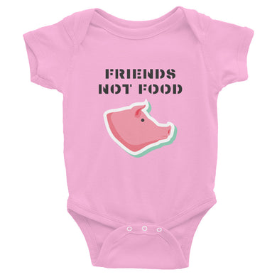 Friends Not Food | Pig | Infant Bodysuit