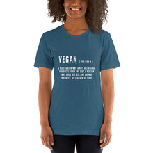 Load image into Gallery viewer, Vegan Definition | Short-Sleeve Unisex T-Shirt