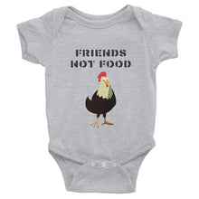Load image into Gallery viewer, Friends Not Food | Chicken | Infant Bodysuit