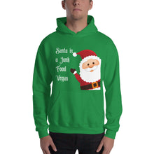 "Load image into Gallery viewer, ""Santa is a Junk Food Vegan"" 
