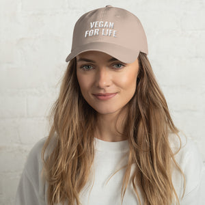 """Vegan for Life"" Dad hat"