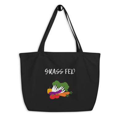 Grass Fed | Large organic tote bag