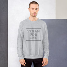 Load image into Gallery viewer, VEGAN FOR LIFE. Sweatshirt