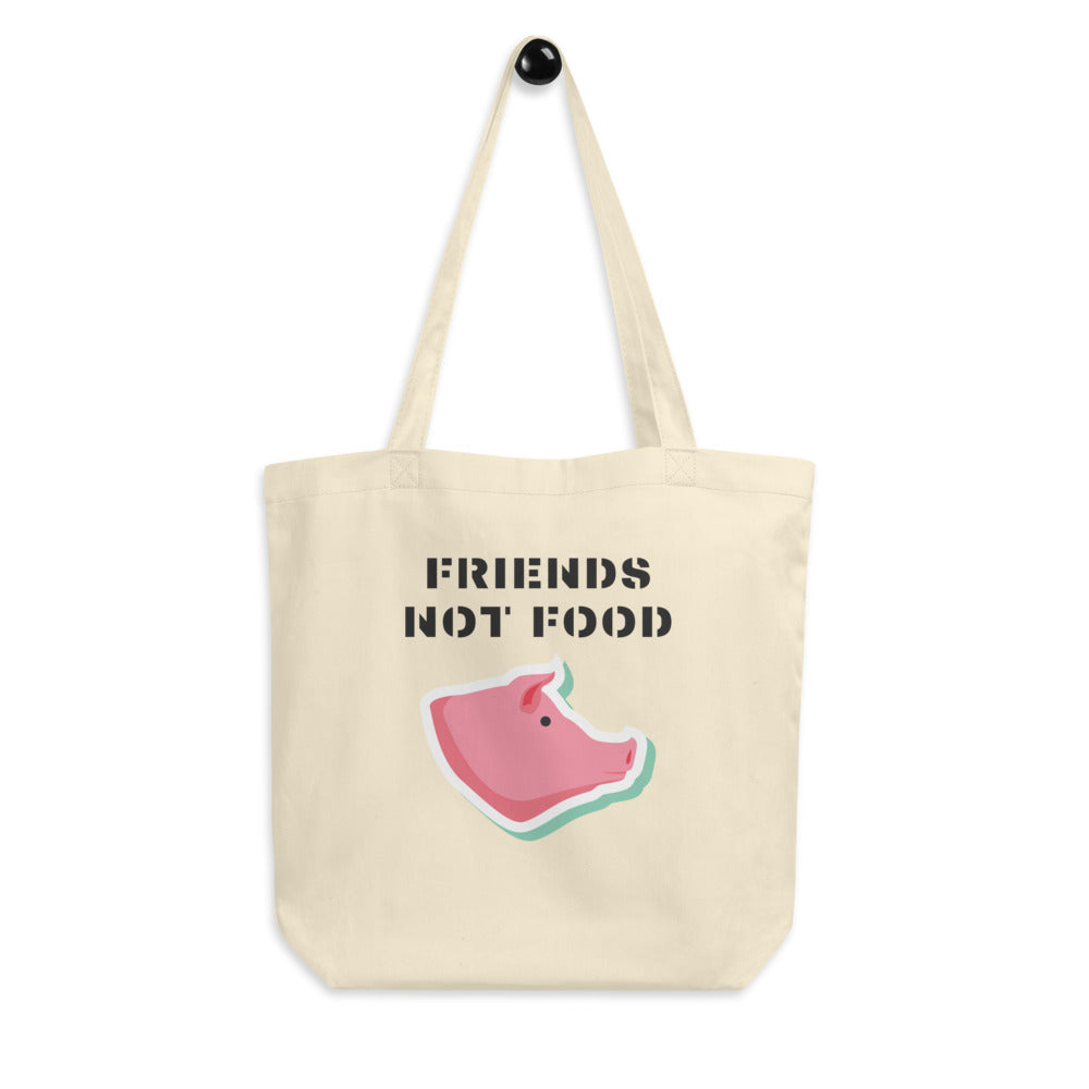 Friends Not Food | Pig Eco Tote Bag