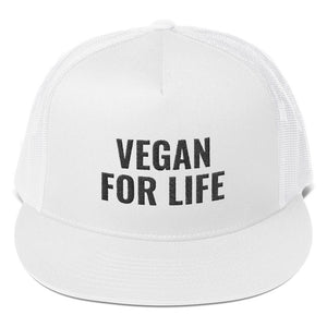VEGAN FOR LIFE Trucker Cap