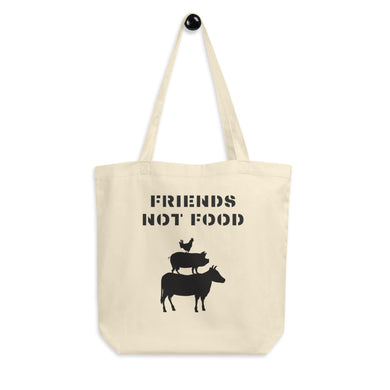 Friends Not Food | Chicken, Pig, Cow Eco Tote Bag
