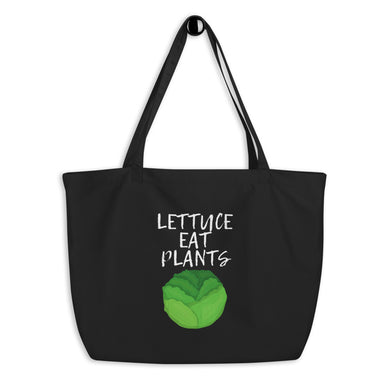Lettuce Eat Plants | Large organic tote bag