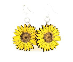 Green Tree Jewelry - Detailed Sunflower Earrings