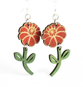Green Tree Jewelry - Emy Flower Earrings