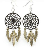Green Tree Jewelry - Dreamcatcher with Feather Earrings