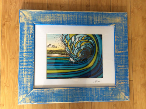 "Heather Brown - Recycled Wood Frame  11""x14"""