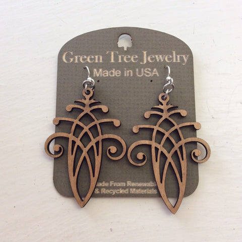 Green Tree Jewelry - Fancy En Laced Acorn Earrings