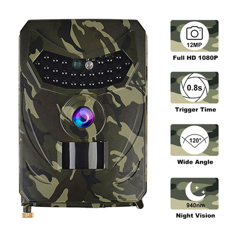 Image of Waterproof Hunting Camera Night Vision Outdoor IP56 Cameras 1080P 12MP Photo 940NM Wildlife Photo Traps Scouts Camcorder