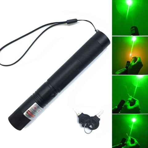 Image of hunting 532 nm 5mw Green Laser Sight laser 303 pointer High Powerful device Adjustable Focus Lazer laser pen Head Burning Match