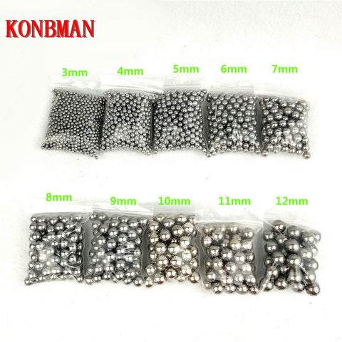 Image of Shooting Steel Balls 5mm 6mm 7mm 8mm 9mm 10mm 11mm Hunting Slingshot Stainless AMMO outdoor Free Shipping wholesale 100pcs/lot