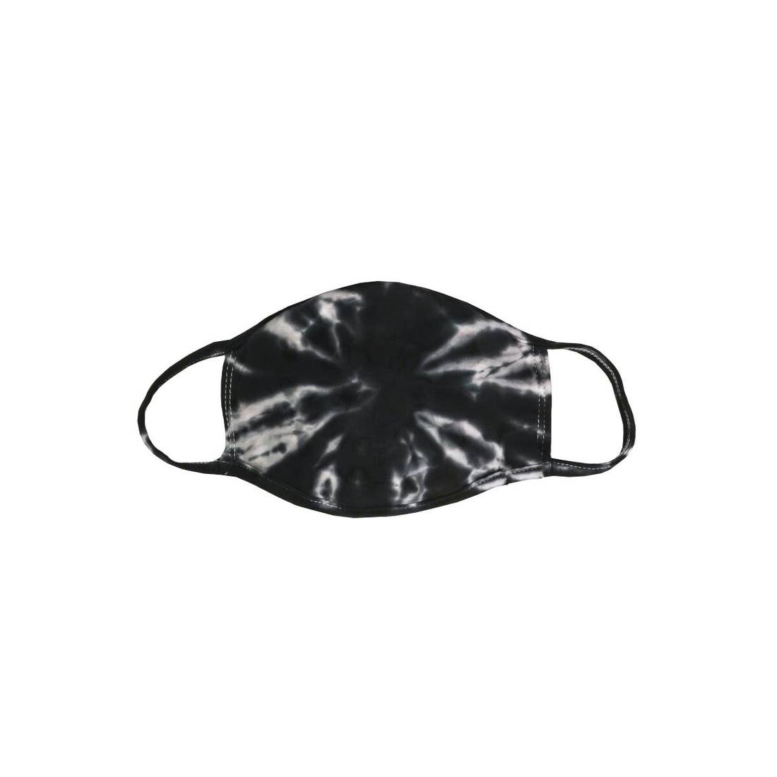 Black Tie Dye Mask - Adult