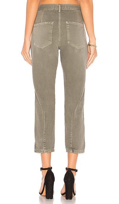 Slouch Trouser Gray Green