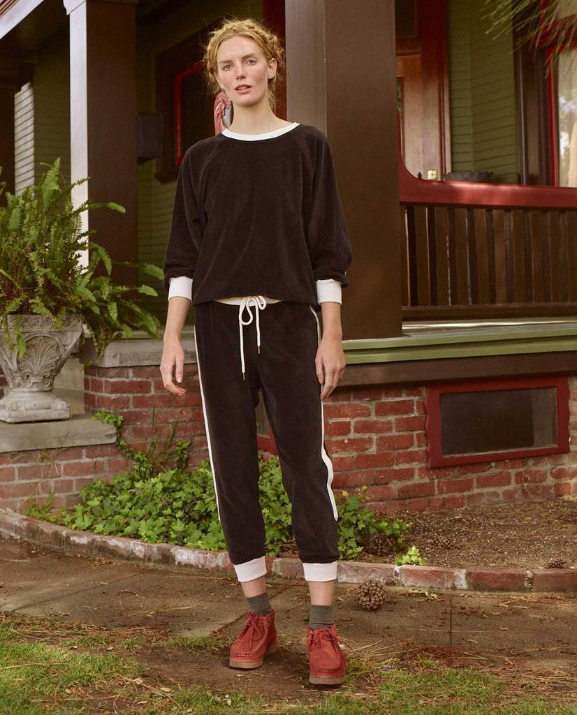 Side Stripe Bubble Sweatshirt