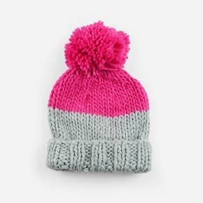 Millie Hat Gray Pink