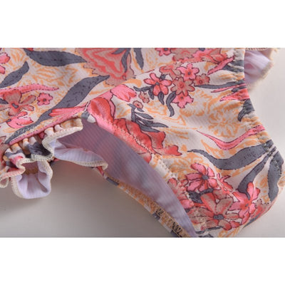 Pink Flowers Bathing Suit - Baby