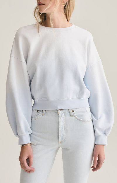Balloon Sleeve Sweatshirt in Dapple Sunfade