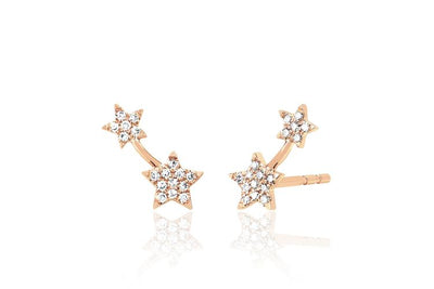 Diamond Double Star Stud  113093