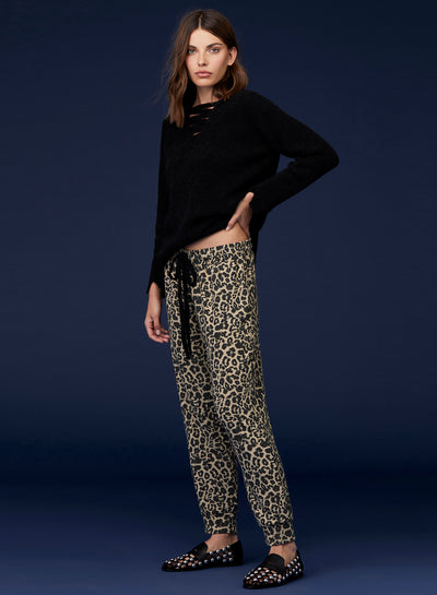 brushed leopard sweat