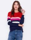 Crew Red And Navy Stripe