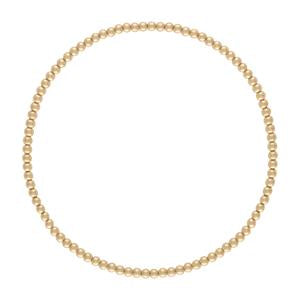 2 mm Gold Ball Bracelet