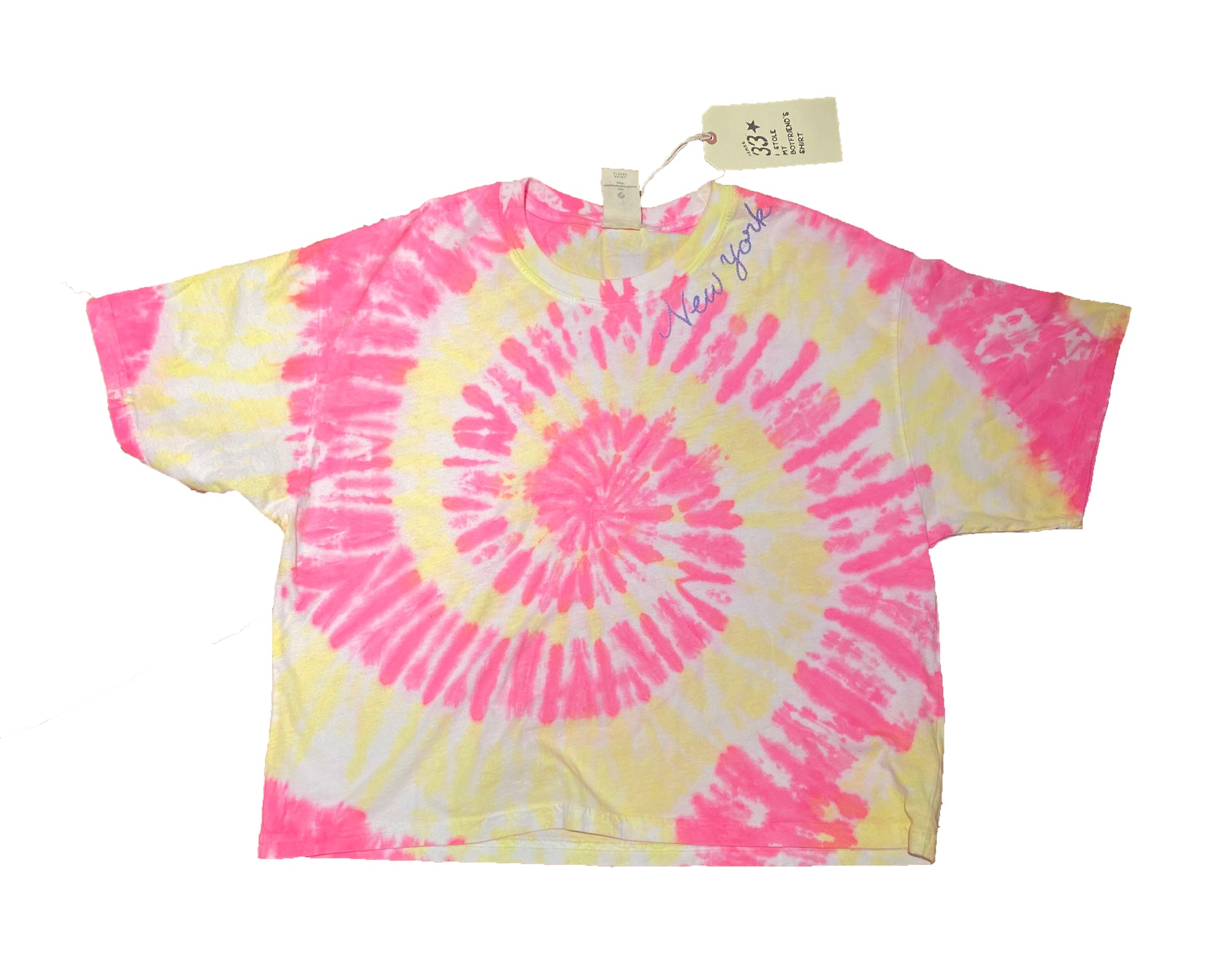 New York Pink Tie Dye T-Shirt