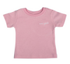 Pink T-shirt W/ White Embroidery
