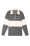 Terry 1/2 Zip Pullover Grey
