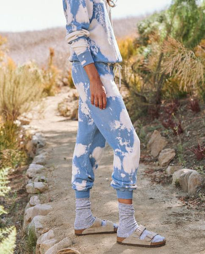 Cropped Sweat pant- Cloud Wash