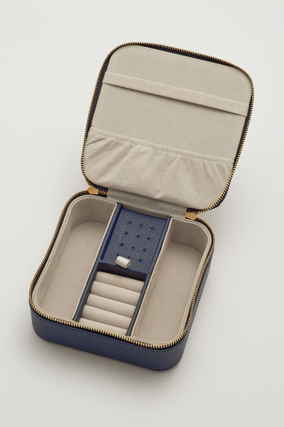 Treasure Me Navy Jewelry Box