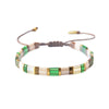 White And Green Bead Bracelet