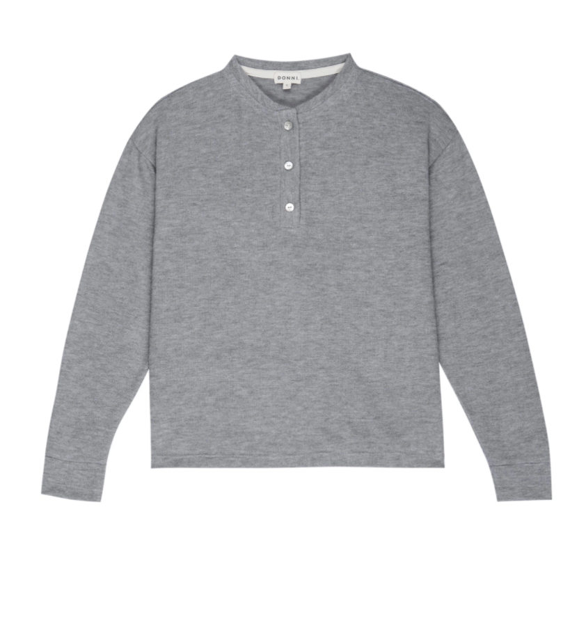 Sweater Henley Grey