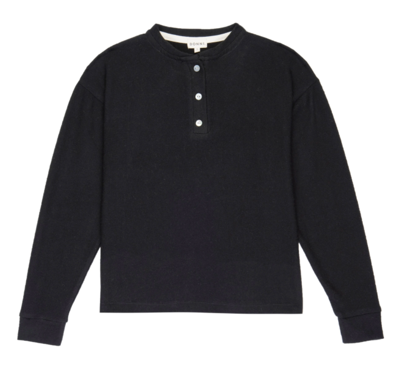 Sweater Henley Black