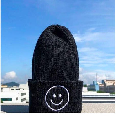 KIDS Knit Beanie Smiley