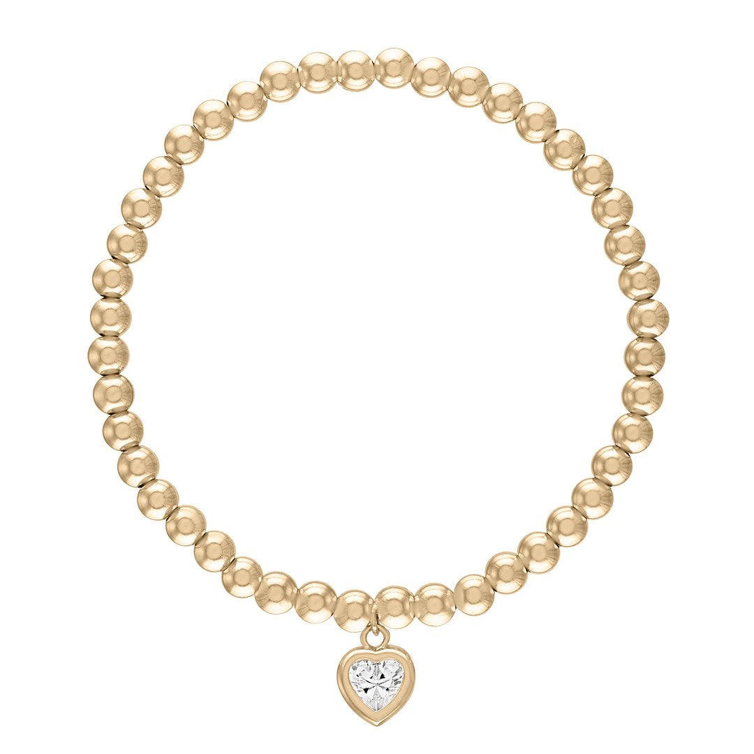 All My Heart 4 mm Gold Ball Bracelet
