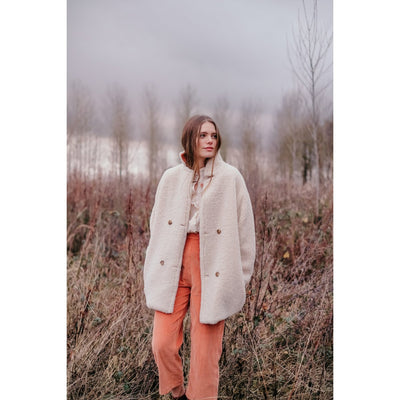 Coat Veronika Cream & Terracota