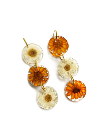 Tres flores earrings