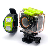 "Full HD Sports Action Camera ""Helix"" - 1080p Video, Wi-Fi, Wrist Strap Remote, Wide Angle Lens"