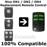 Nice FLOR-S / ONE Replacement Remote Control Transmitter Key Fob 433.92 MHz Long Range