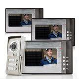 "Video Door Phone ""Triga"" - 3 Monitors for 3 Separate Households, Night Vision"
