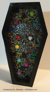Abstract Mixed Media Art - Sugar Skull