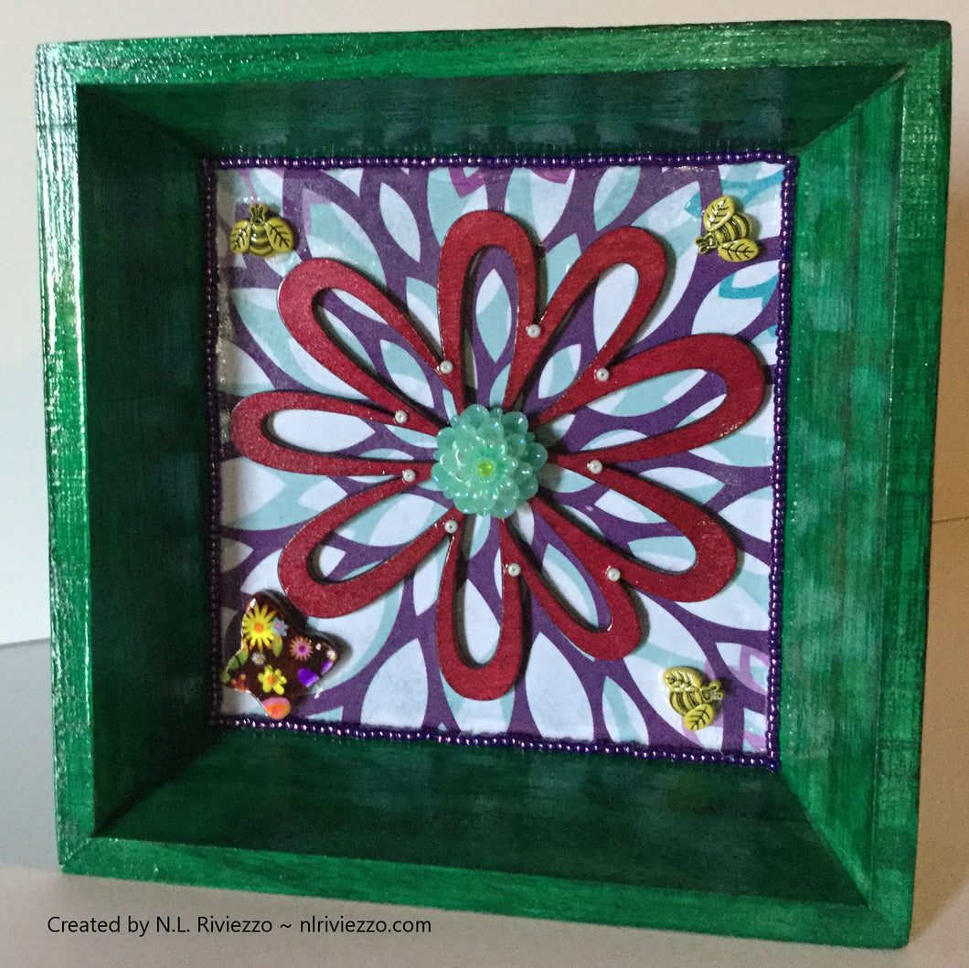 Mixed Media Art - Magenta Flower