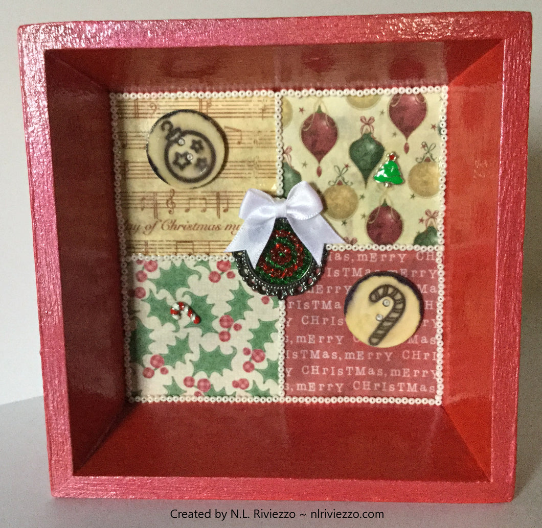Mixed Media Art - Red Gift